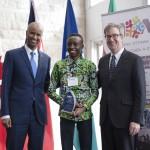 Minister Hussen, Aaron Kabemba (Welcoming Ottawa Ambassador) & Mayor Watson
