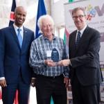 Minister Hussen, Bruce Grant (Welcoming Ottawa Ambassador) & Mayor Watson