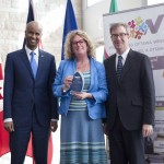 Minister Hussen, Claudine Revert-Gravelle (Welcoming Ottawa Ambassador) & Mayor Watson