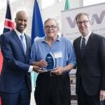 Minister Hussen, Mike Brosseau (Welcoming Ottawa Ambassador) & Mayor Watson