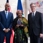 Minister Hussen, Shukria Samnter (Welcoming Ottawa Ambassador) & Mayor Watson
